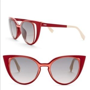 a4cfd18f9f3 Fendi cut out wave cat eye sunglasses